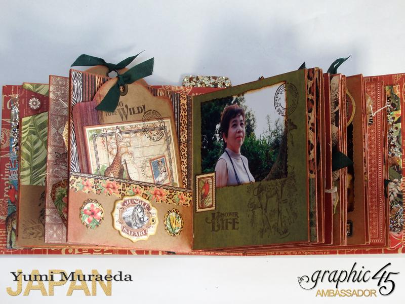 ILoveMeBookandToteBagGraphic45 Safari Adventure  by Yumi Muraeada Product by Graphic 45 6a