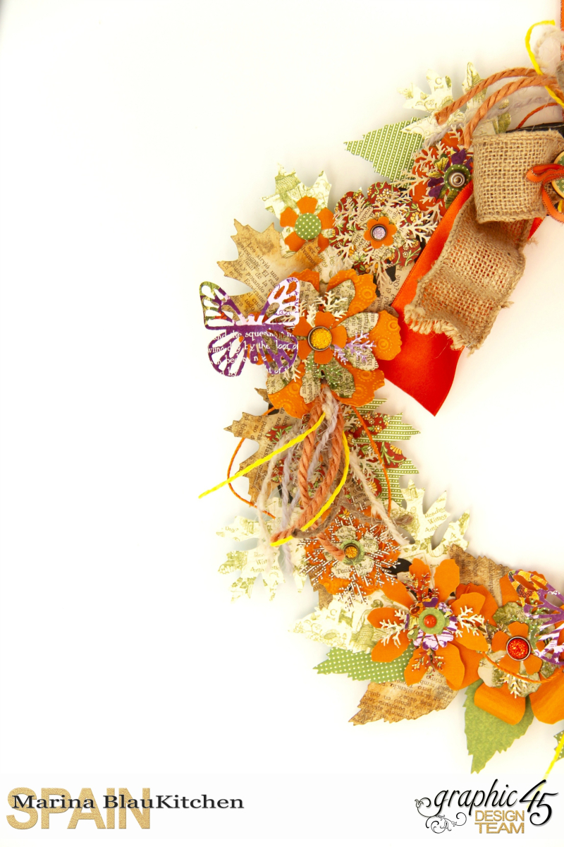 Fall Wreath Children's Hour and others Tutorial by Marina Blaukitchen Product by Graphic 45 photo 2