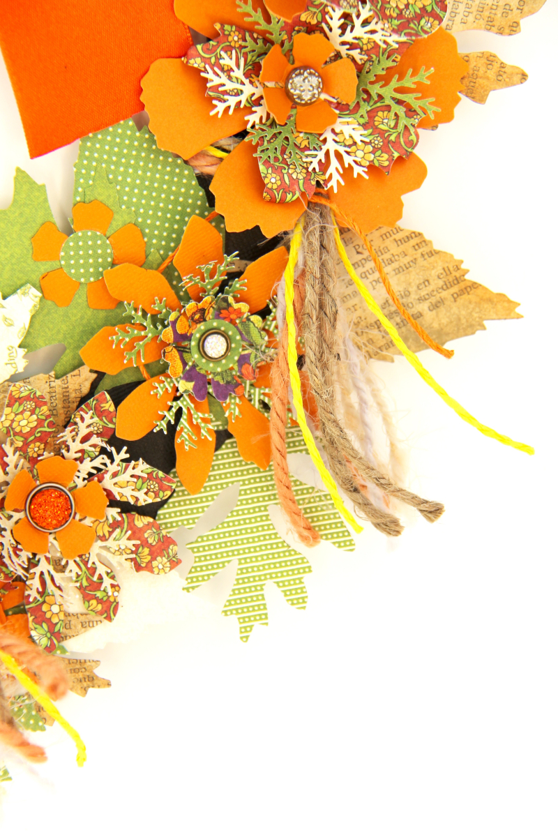 Fall Wreath Children's Hour and others Tutorial by Marina Blaukitchen Product by Graphic 45 photo 12