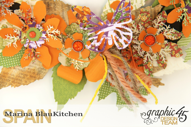 Fall Wreath Children's Hour and others Tutorial by Marina Blaukitchen Product by Graphic 45 photo 4
