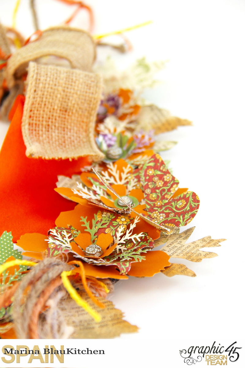 Fall Wreath Children's Hour and others Tutorial by Marina Blaukitchen Product by Graphic 45 photo 7