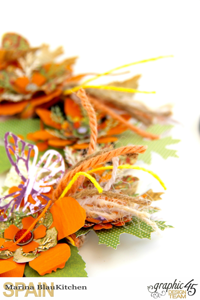Fall Wreath Children's Hour and others Tutorial by Marina Blaukitchen Product by Graphic 45 photo 6