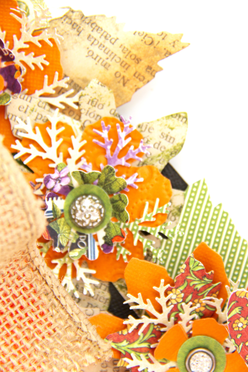 Fall Wreath Children's Hour and others Tutorial by Marina Blaukitchen Product by Graphic 45 photo 9