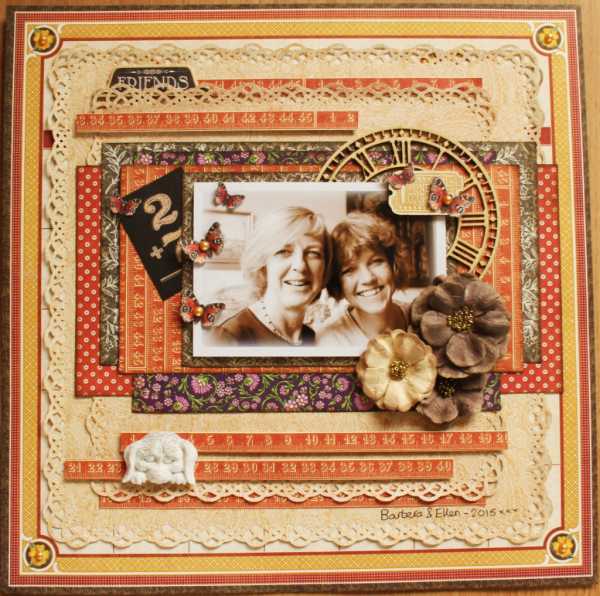 Rare Oddities and Children's Hour layout by Romy Veul #graphic45