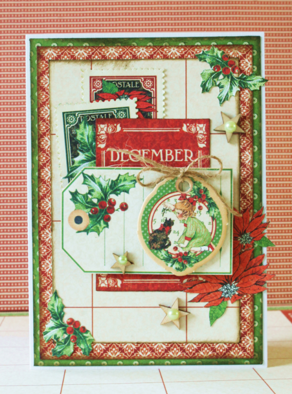 December Christmas card by Romy Veul using Children's Hour #graphic45