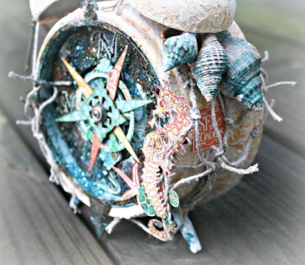 Voyage Beneath the Sea compass by Miranda Edney #graphic45