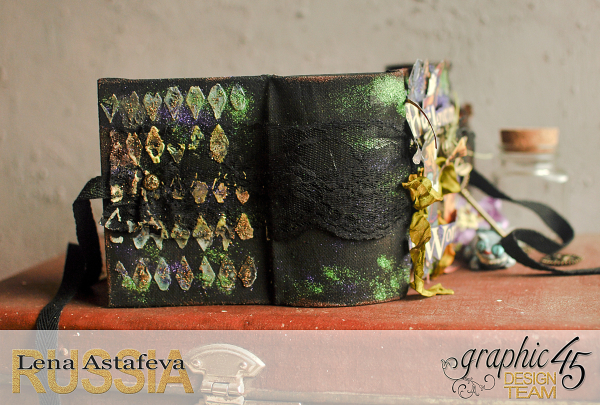 Book Box and mini album-Hallowe'en in Wonderland-Tutorial by Lena Astafeva-products by Graphic 45-Photo-18