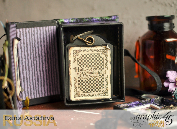 Book Box and mini album-Hallowe'en in Wonderland-Tutorial by Lena Astafeva-products by Graphic 45-Photo-32