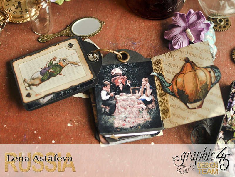 Book Box and mini album-Hallowe'en in Wonderland-Tutorial by Lena Astafeva-products by Graphic 45-Photo-43