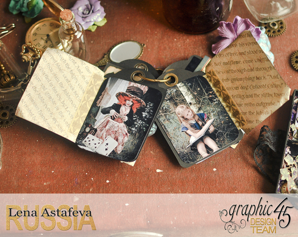 Book Box and mini album-Hallowe'en in Wonderland-Tutorial by Lena Astafeva-products by Graphic 45-Photo-45