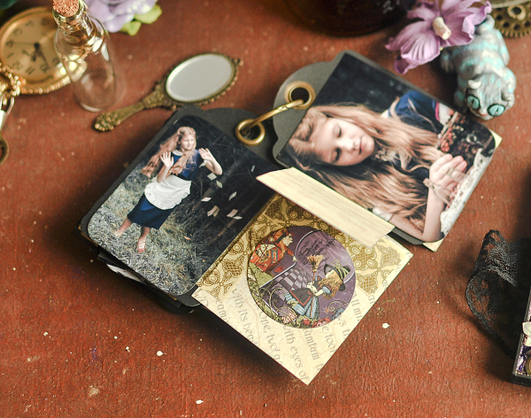 Book Box and mini album-Hallowe'en in Wonderland-Tutorial by Lena Astafeva-products by Graphic 45-Photo-48