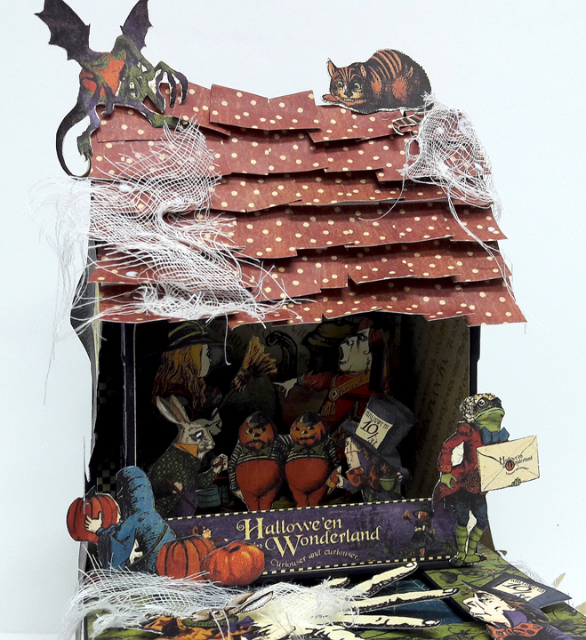 Halloween Spooky House, Halloween in Wonderland, by Einat Kessler, product by Graphic 45 photo 9
