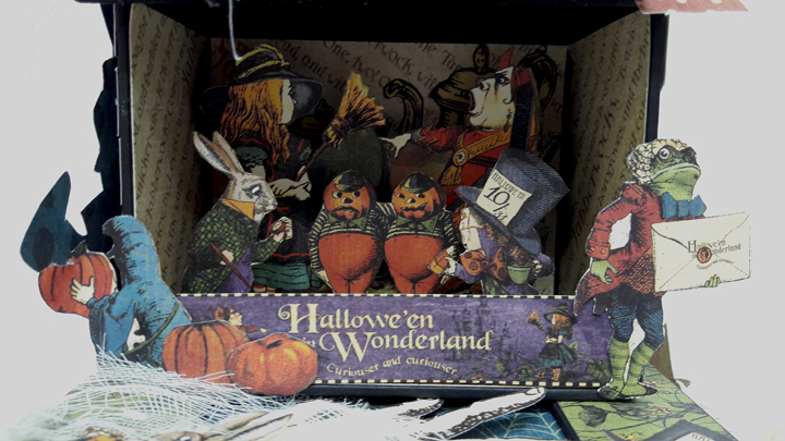 Halloween Spooky House, Halloween in Wonderland, by Einat Kessler, product by Graphic 45 photo 8