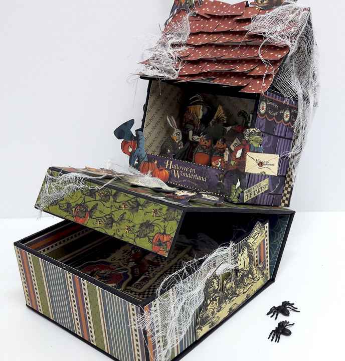 Halloween Spooky House, Halloween in Wonderland, by Einat Kessler, product by Graphic 45 photo 4