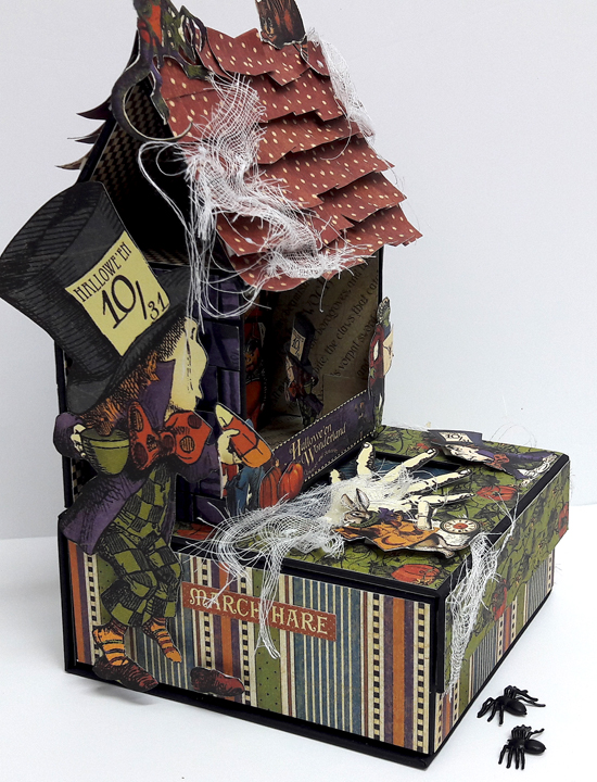 Halloween Spooky House, Halloween in Wonderland, by Einat Kessler, product by Graphic 45 photo 6
