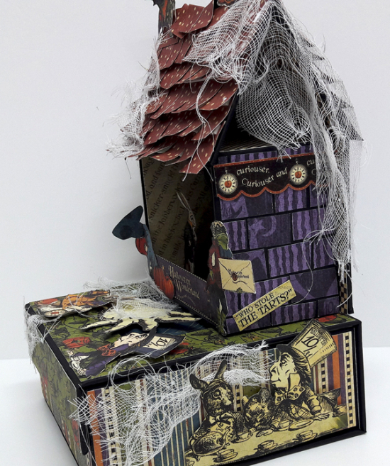 Halloween Spooky House, Halloween in Wonderland, by Einat Kessler, product by Graphic 45 photo 10