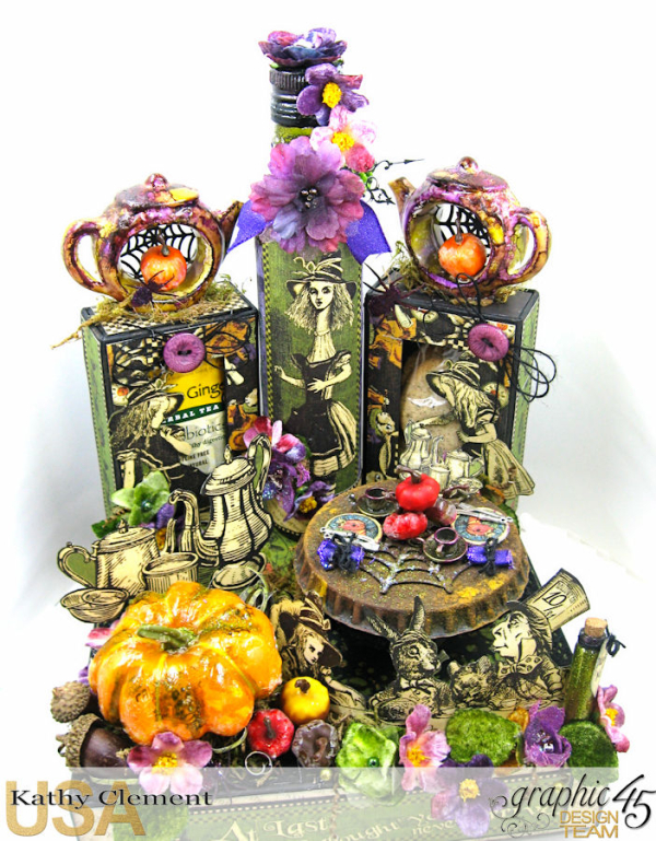 Halloween Tea with Alice, Halloween in Wonderland, by Kathy Clement, Product by Graphic 45, Photo 3