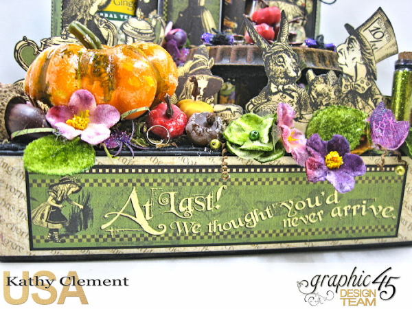 Halloween Tea with Alice, Halloween in Wonderland, by Kathy Clement, Product by Graphic 45, Photo 7  (1)