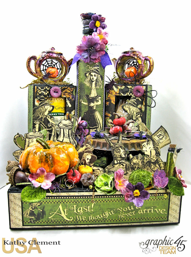 Halloween Tea with Alice, Halloween in Wonderland, by Kathy Clement, Product by Graphic 45, Photo 1