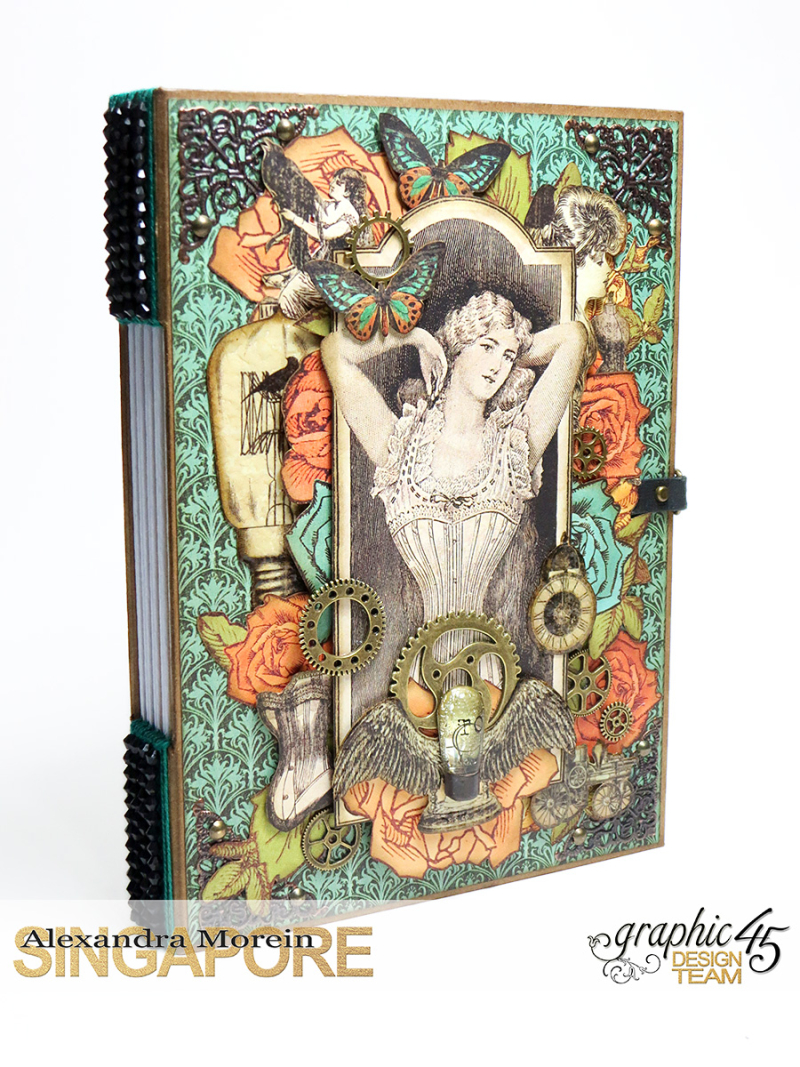 DIY Notebook, Steampunk Debuntante, Tutorial by Alexandra Morein, Product by Graphic 45, Photo 1