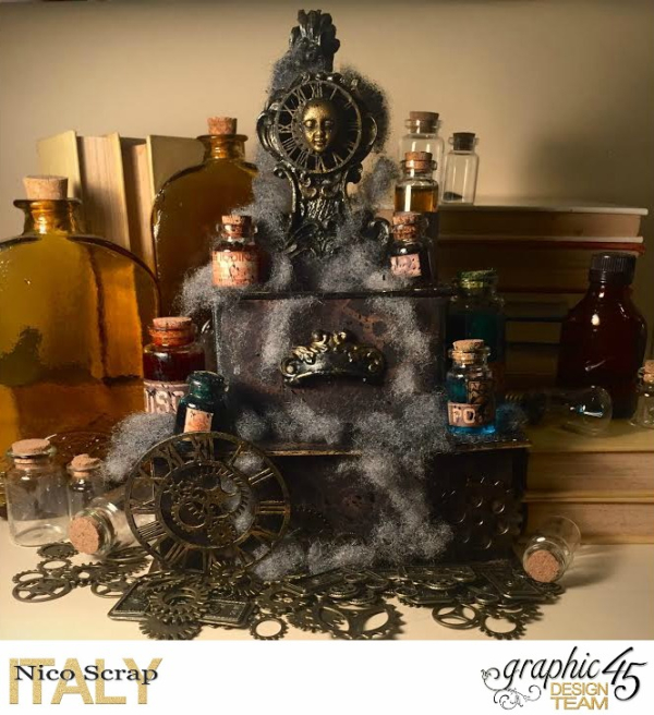 Poison Boxes, steampunk debutante collection, project by Nico Scrap, Product by Graphic 45, Photo 1