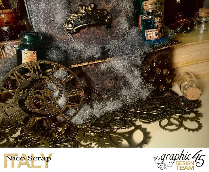 Poison Boxes, steampunk debutante collection, project by Nico Scrap, Product by Graphic 45, Photo 2