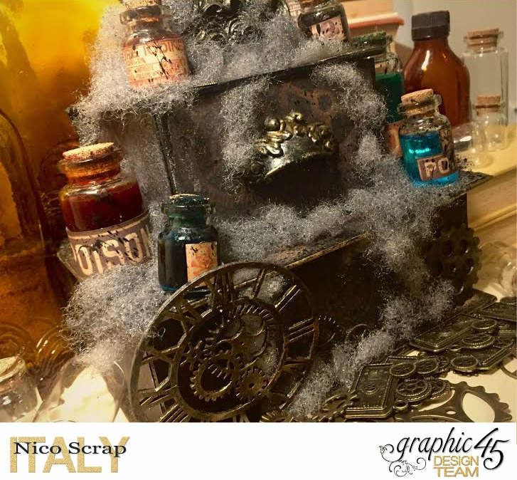 Poison Boxes, steampunk debutante collection, project by Nico Scrap, Product by Graphic 45, Photo 3