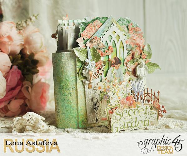 Pop-ap album-Secret Garden-by Lena Astafeva-Product by Graphic 45 -38