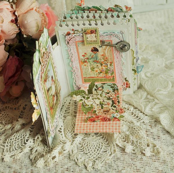 Pop-ap album-Secret Garden-by Lena Astafeva-Product by Graphic 45 -46