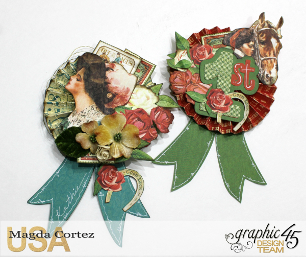 Place Cards for a B-Day Party-Off To The Races-Magda Cortez-Product by Graphic 45-Tutorial-08 of 09