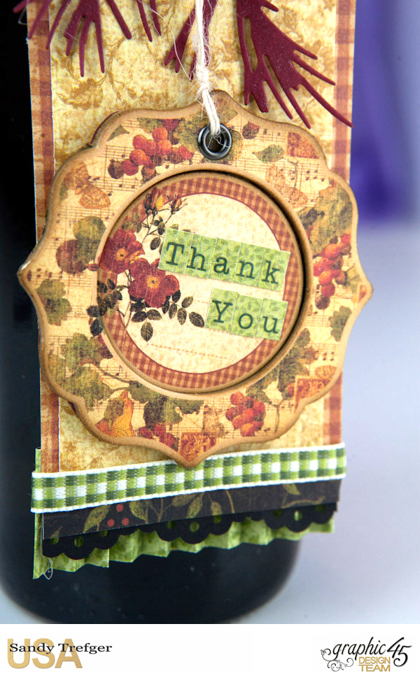 Wine Bottle Tag, Botanicalbella, by Sandy Trefger, Product by Graphic 45, Product by Scrapbook Adhesive, Photo 0007