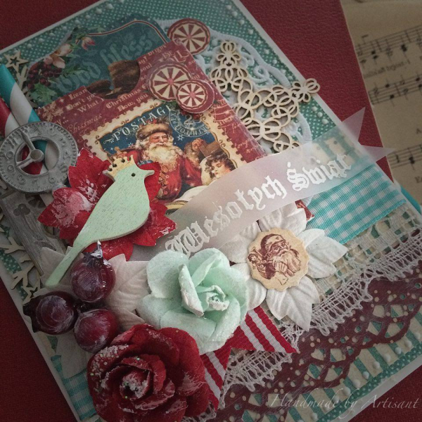 St.Nicholas and A Christmas Carol card tutorial for Graphic 45 by Aneta Matuszewska, photo 3