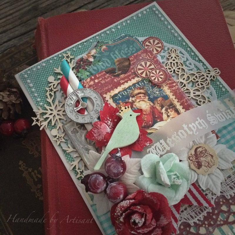 St.Nicholas and A Christmas Carol card tutorial for Graphic 45 by Aneta Matuszewska, photo 2