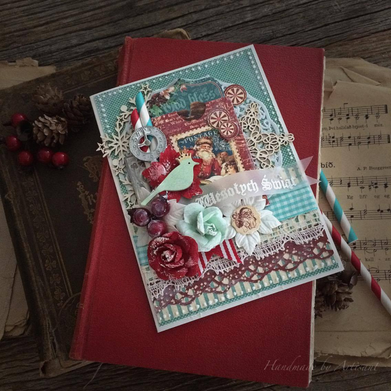 St.Nicholas and A Christmas Carol card tutorial for Graphic 45 by Aneta Matuszewska, photo 1