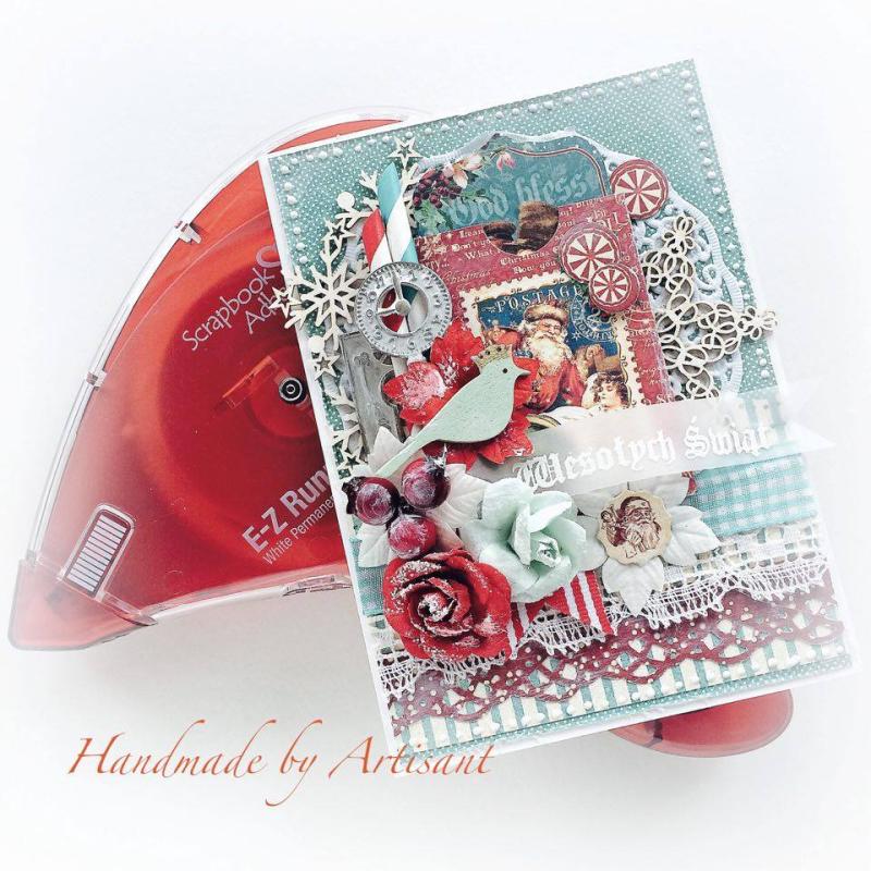 St.Nicholas and A Christmas Carol card tutorial for Graphic 45 by Aneta Matuszewska, photo 5