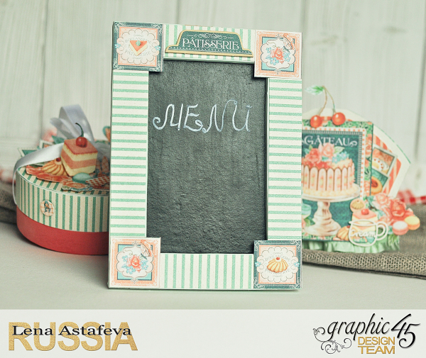 Altered-artCafe Parisian- Tutorial byLena astafeva- products Graphic 45-5