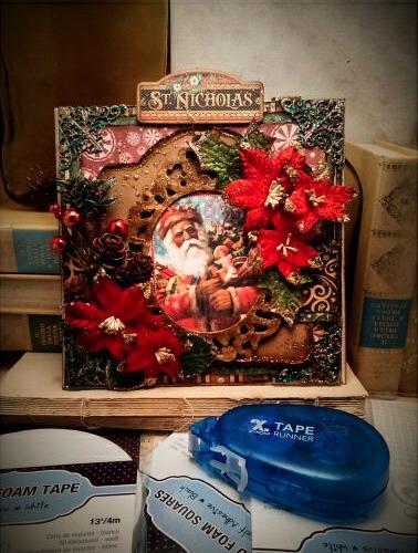 Christmas carol, St Nicholas, blog hop by Nico Scrap, Product by Graphic 45, Photo