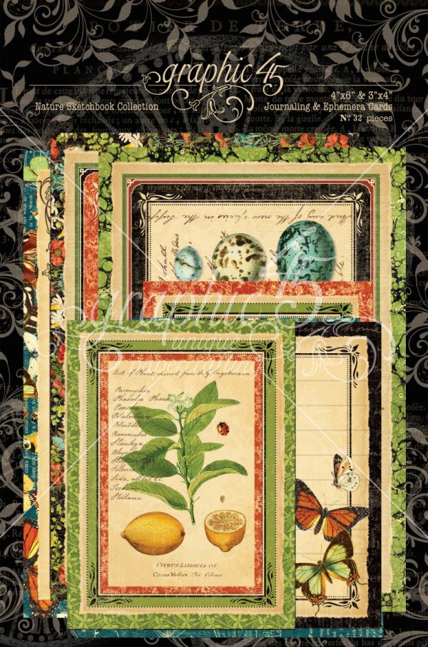 Nature Sketchbook Journaling & Ephemera Cards
