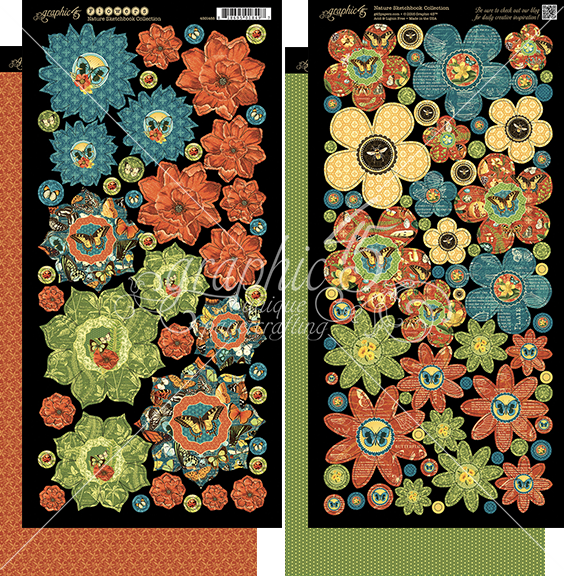 Nature Sketchbook Cardstock Flowers