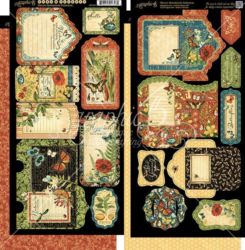 Nature Sketchbook Cardstock Tags & Pockets