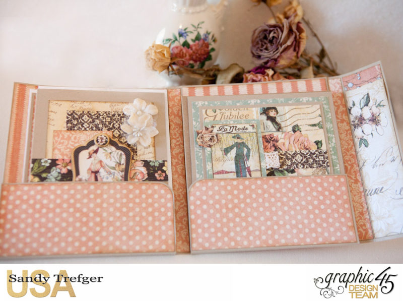 Card Folio Gift Set, Ladies Diary, Tutorial by Sandy Trefger, Product by Graphic 45, Product by Clearsnap, Photo 004