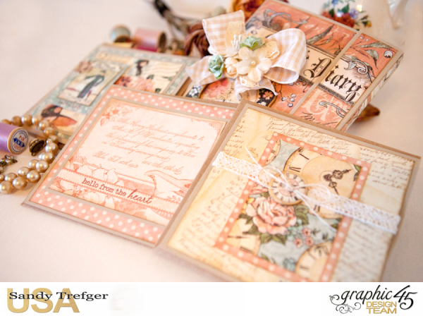 Card Folio Gift Set, Ladies Diary, Tutorial by Sandy Trefger, Product by Graphic 45, Product by Clearsnap, Photo 001