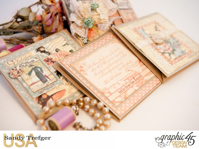 Card Folio Gift Set, Ladies Diary, Tutorial by Sandy Trefger, Product by Graphic 45, Product by Clearsnap, Photo 009