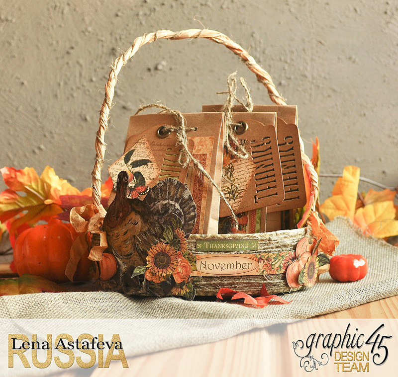 Thanksgiving decor-Botanicabella-Tutorial by Lena Astafeva-Product by Graphic 45-40
