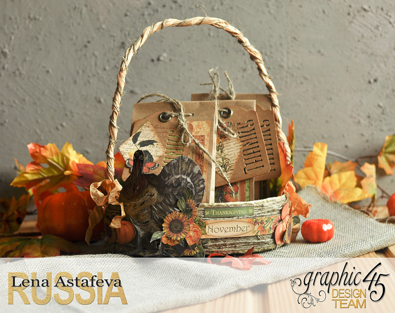 Thanksgiving decor-Botanicabella-Tutorial by Lena Astafeva-Product by Graphic 45-42