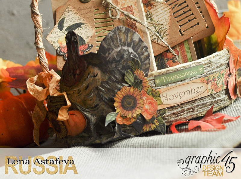 Thanksgiving decor-Botanicabella-Tutorial by Lena Astafeva-Product by Graphic 45-47