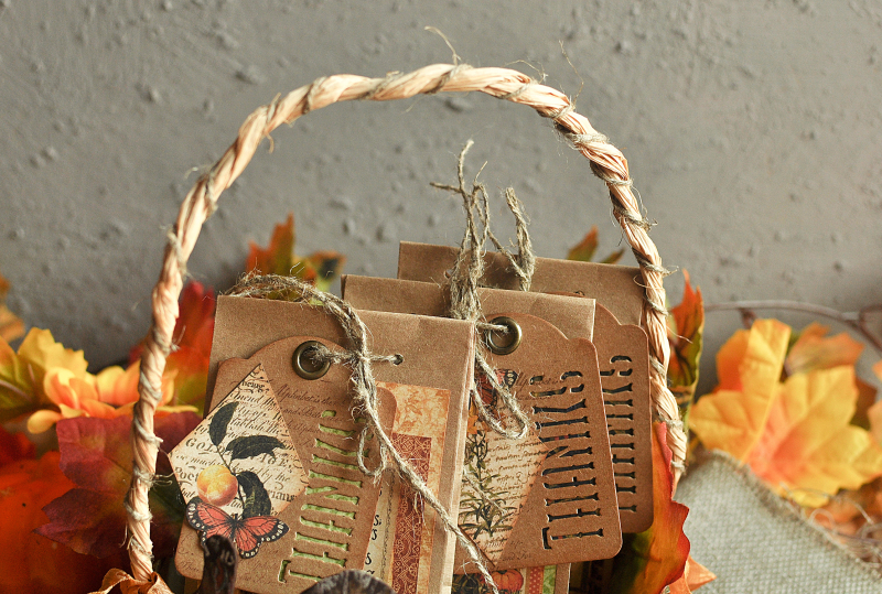 Thanksgiving decor-Botanicabella-Tutorial by Lena Astafeva-Product by Graphic 45-48