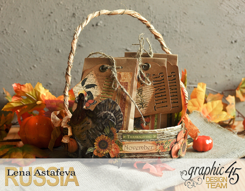 Thanksgiving decor-Botanicabella-Tutorial by Lena Astafeva-Product by Graphic 45-41