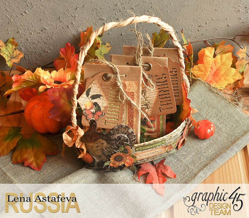 Thanksgiving decor-Botanicabella-Tutorial by Lena Astafeva-Product by Graphic 45-50