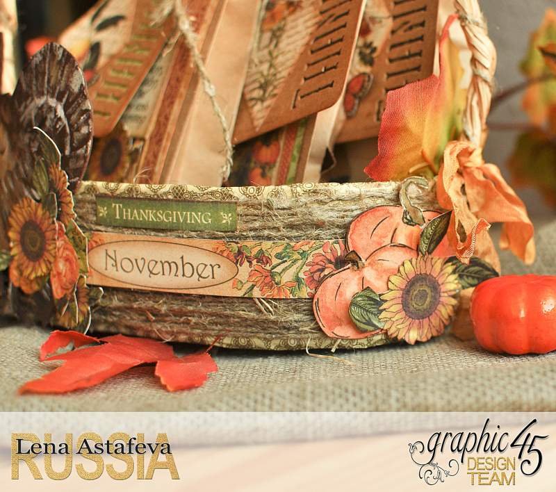 Thanksgiving decor-Botanicabella-Tutorial by Lena Astafeva-Product by Graphic 45-53
